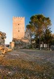 Acropolis of Civitavecchia di Arpino, Italy stock photos