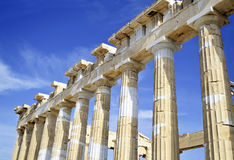Acropolis columns in Greece Royalty Free Stock Images