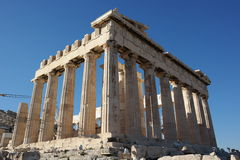Acropolis columns, parthenon temple,athens Stock Photography