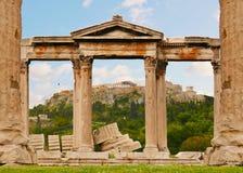Acropolis de Atenas ilustração do vetor