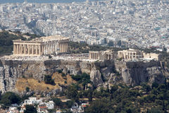 Acropolis de Atenas Fotografia de Stock