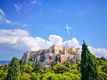 Acropolis de Atenas Construção do Partenon foto de stock royalty free