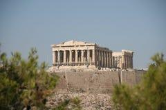 Acropolis de Atenas greece imagem de stock