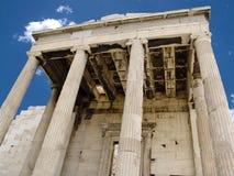 Acropolis de Athen com templo do Parthenon foto de stock