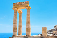 Acropolis de Lindos O Rodes, Grécia Fotografia de Stock