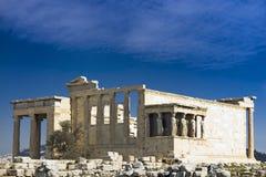 Acropolis do templo de Erechtheion Fotografia de Stock Royalty Free