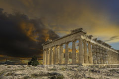 Acropolis e parthenon Atenas Greece Foto de Stock Royalty Free