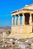 Acropolis, Erechtheum Temple in Athens, Greece Royalty Free Stock Photos