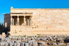 Acropolis, Erechtheum Temple in Athens, Greece Stock Photography