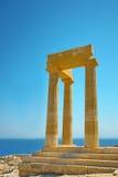 acropolis forntida greece rhodes Royaltyfri Foto