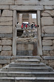 Acropolis gate Royalty Free Stock Photos