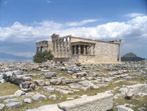 Acropolis, greece. Monument of the old fellow Royalty Free Stock Image