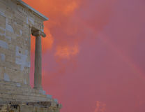 Acropolis Greece, Athena Nike ancient temple Royalty Free Stock Photos