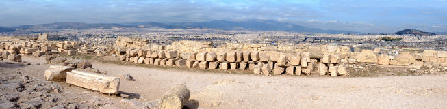 Acropolis, Greece, panorama of the city from above Royalty Free Stock Images
