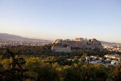 Acropolis Hill. And Athens city view at afternoon Royalty Free Stock Images