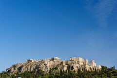 Acropolis hill daytime Royalty Free Stock Images