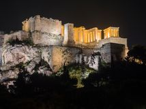 Acropolis hill with Parthenon in Athens Greece royalty free stock image