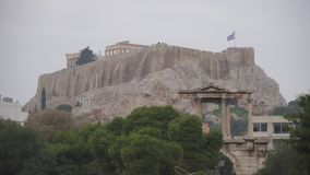Acropolis Hill. View on Acropolis Hill in Athens, Greece stock video