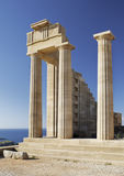Acropolis of Lindos Royalty Free Stock Images