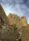 Acropolis of Lindos Stock Photo