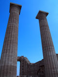Acropolis in lindos Royalty Free Stock Photography