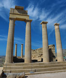 Acropolis of Lindos Stock Photography