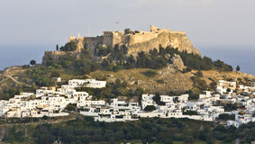Acropolis of Lindos, Rhodes, Greece Stock Image