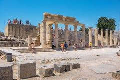 Acropolis of Lindos. Rhodes, Greece Stock Image