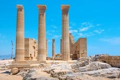 Acropolis of Lindos. Rhodes, Greece Royalty Free Stock Photo