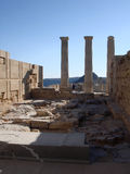 Acropolis in Lindos, Rhodes island Royalty Free Stock Photography