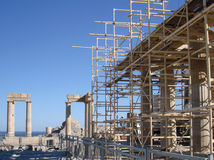 Acropolis in Lindos, Rhodes island Stock Image