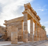 Acropolis of Lindos on Rhodes island Stock Photography