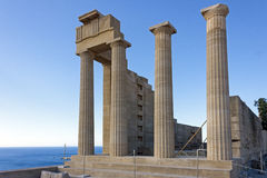 The acropolis of Lindos, Rhodes Royalty Free Stock Image