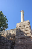 The acropolis of Lindos, Rhodes Royalty Free Stock Photography