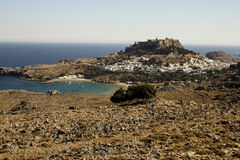 The Acropolis of Lindos Royalty Free Stock Photo