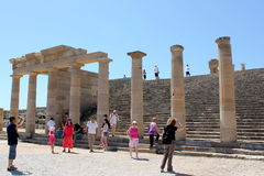 Acropolis of Lindos Royalty Free Stock Photography