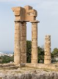 Acropolis at Monte Smith hill in Rhodes town, Greece Royalty Free Stock Image