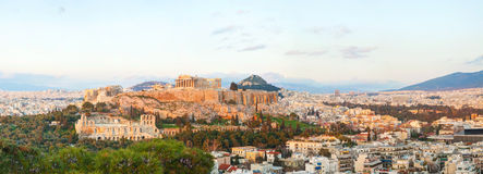 Acropolis in the morning after sunrise Stock Image