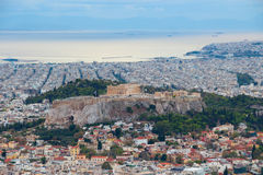 A panoramic view of the Acropolis Stock Photos