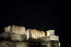 Acropolis at night Stock Photo