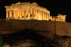 Acropolis at night Royalty Free Stock Photography