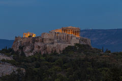 The Acropolis at night Stock Photo