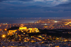 Acropolis at night Royalty Free Stock Image