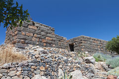 The Acropolis of Nyssiros island in Greece Royalty Free Stock Photos