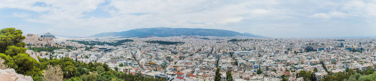 Acropolis panorama Stock Photos