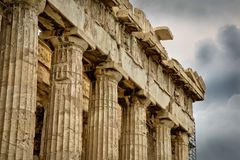 Acropolis, Parthenon. Greece, Athens, Acropolis, Parthenon with sky Stock Image