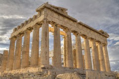 Acropolis and parthenon Athens Greece Stock Images
