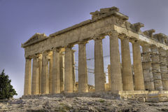 Acropolis and parthenon Athens Greece Royalty Free Stock Images