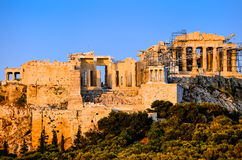 Acropolis and Parthenon Royalty Free Stock Images