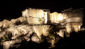 Acropolis,Parthenon,at night Stock Photos